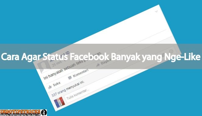 Cara Facebook Status di Like