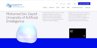 Pagina de la Universidad de Inteligencia Artificial MBZUAI