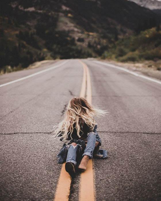 Poses tumblr en la carretera originales