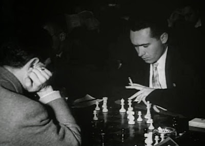Partida de ajedrez Ridameya-Piris del Torneo Triangular Internacional Madrid - Lisboa - Barcelona