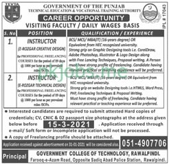 Latest Technical Education & Vocational Training Authority Faculty Posts 2021