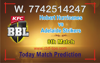 HBH vs ADS 8th Match Who will win Today BBL T20? Cricfrog