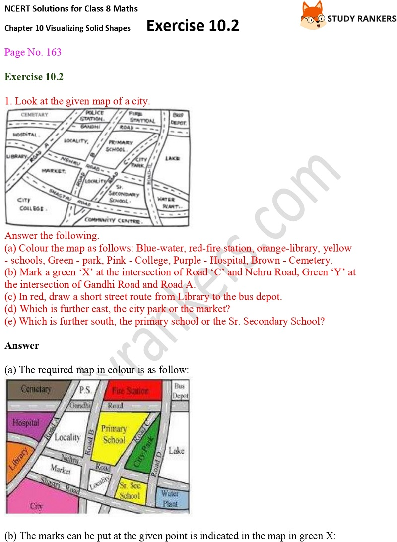 NCERT Solutions for Class 8 Maths Ch 10 Visualizing Solid Shapes Exercise 10.2 1