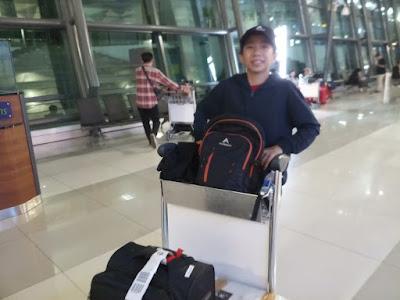 BeDe junior yang berhasil mudik dengan tiket gratis Garuda dengan GarudaMiles
