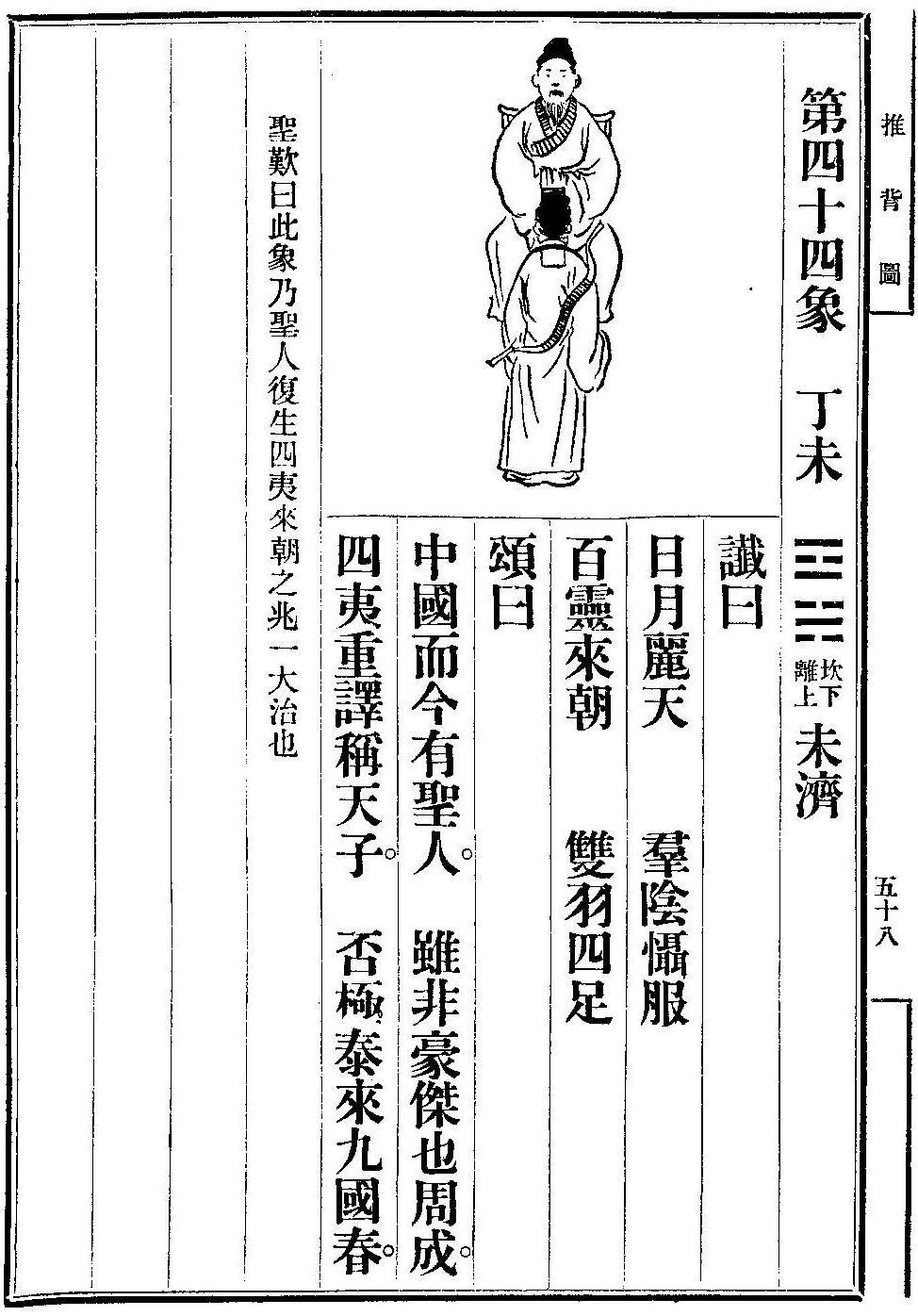 衍緣易學: 推背圖 - 第四十四/四十五象