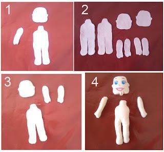 Cara membuat boneka Upin Ipin dari kain flanel