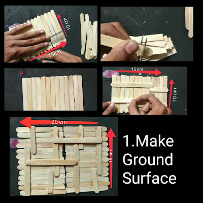 How to make Popsicle sticks house step by step tutorial, how to make home with ice cream sticks, how to make house with sticks
