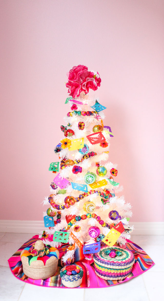 Fiesta themed Christmas tree inspired by San Antonio's Fiesta!