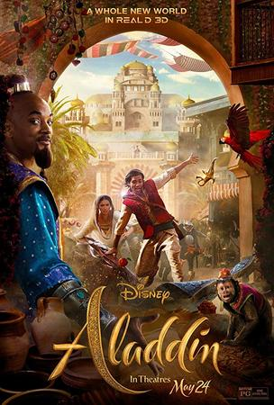 Poster Of Aladdin 2019 In Hindi Bluray 1080P Free Download