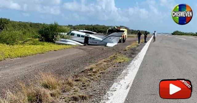 Avioneta se salió de la pista en Los Roques