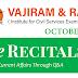 Vajiram and Ravi Recitals October 2020 Current Affairs PDF Download