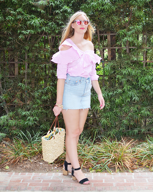What I Wore | Pink Ruffles