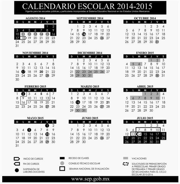 ATP PRIMARIA: CALENDARIO ESCOLAR 2014