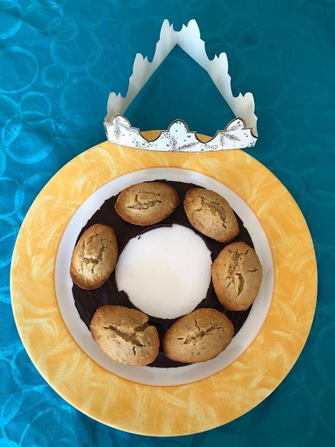 Couronne de madeleines des rois à la noisette sans gluten