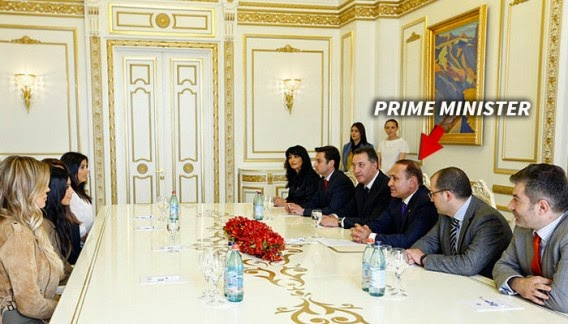 Photos:Reality stars, Kim and Khloe meet Armenian Prime Minister, Hovik Abrahamyan