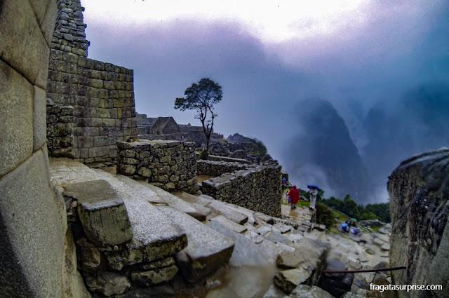 Machu Picchu vista das escadarias do Templo do Sol