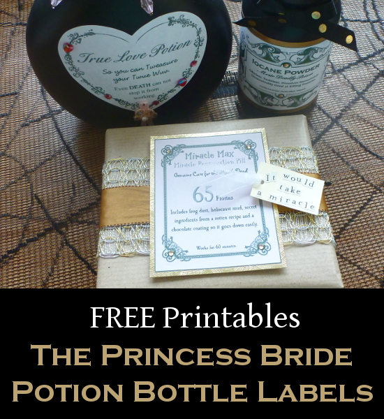 The princess bride free printable label designs for apothecary potion bottles this Halloween crafting season