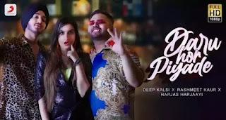 Daru Hor Piyade Lyrics - Rashmeet Kaur x Deep Kalsi