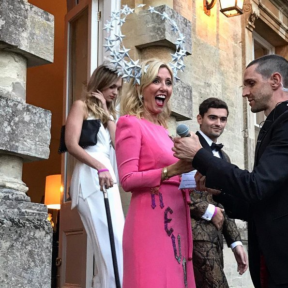 Queen Maxima wore Jan Taminiau dress from Spring 2014 Couture collection. Princess Maria-Olympia, Princess Mette Marit, Princess Marie-Chantal, wore Tory Burch dress, wore Valentino dress