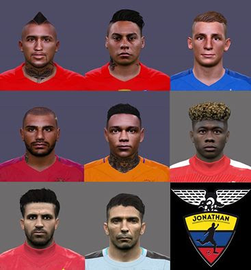 PES 2016 International facepack by Jonathan facemaker
