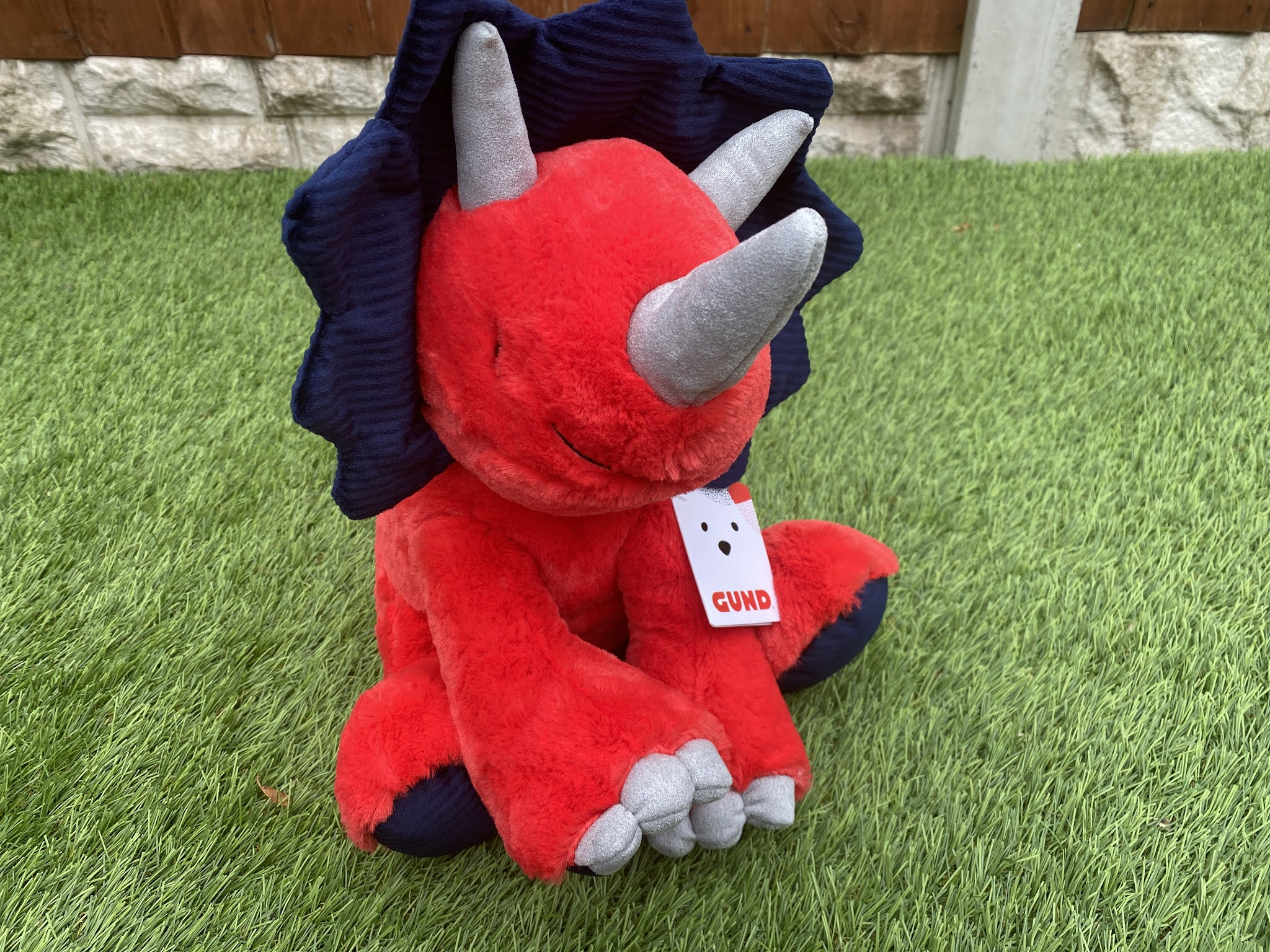 Carson the Triceratops Soft Toy from GUND
