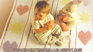 Patrones crochet de manta para bebé