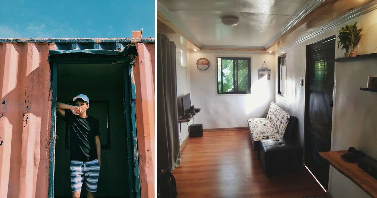 PHOTOS: Guy builds beautiful tiny home using a container van
