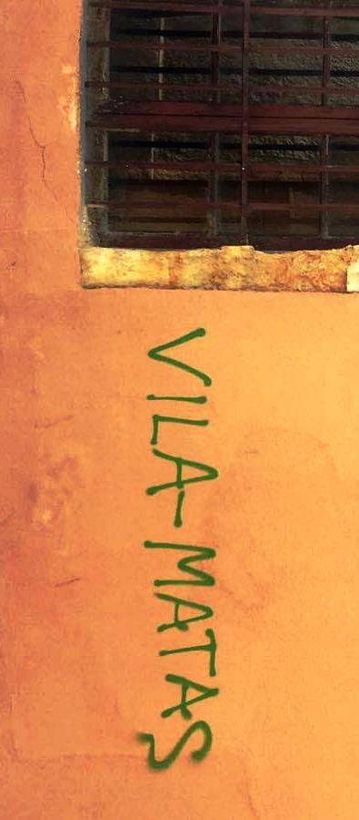 Vila-Matas, grafiti en Salamanca, 2018