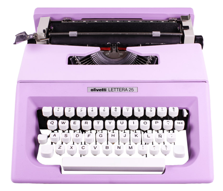 Vintage Lilac Olivetti Lettera Typewriter from El Granero