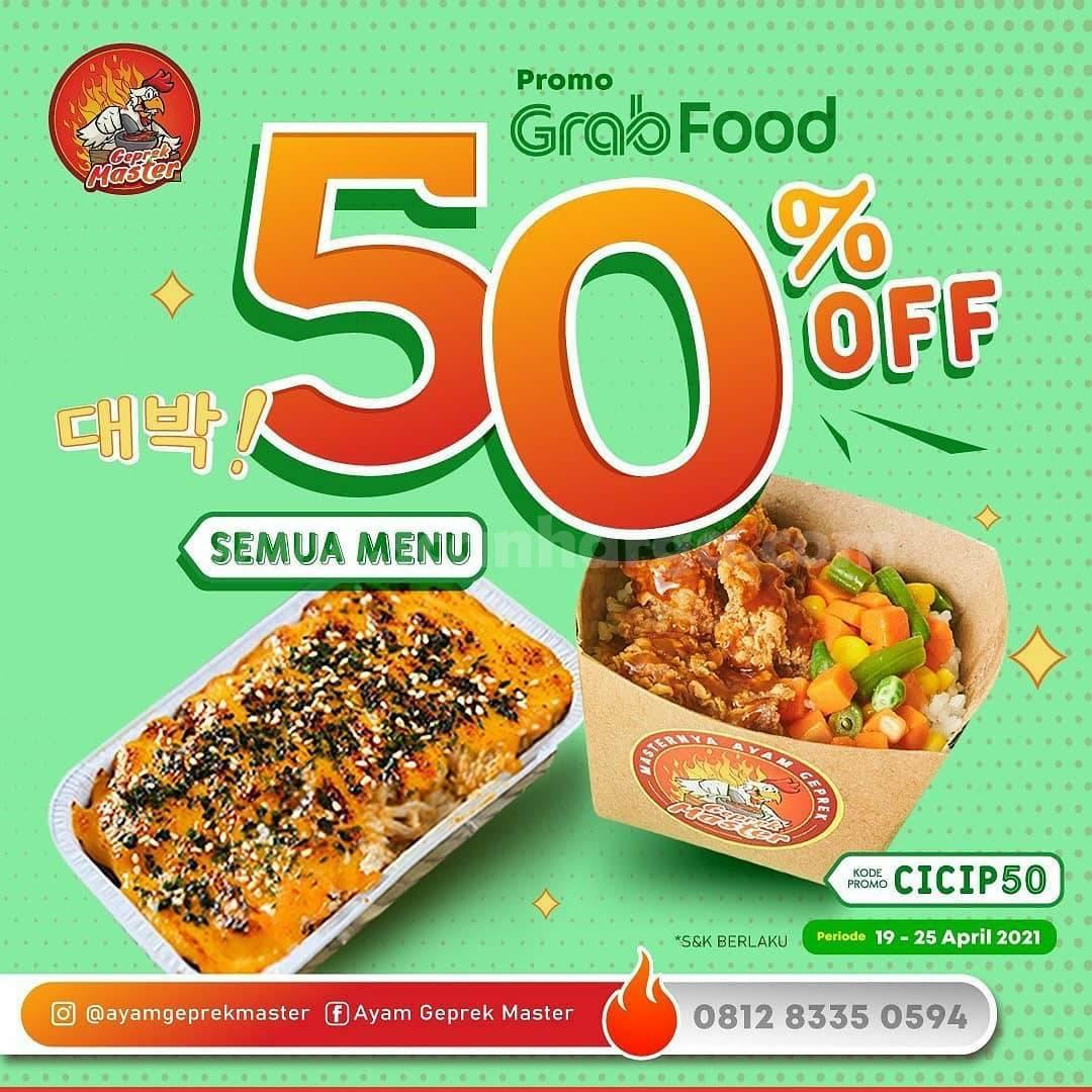AYAM GEPREK MASTER Promo Diskon 50% khusus pemesanan via GRABFOOD