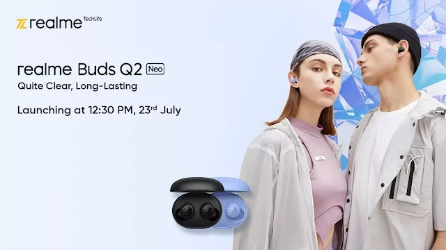 Realme Buds Q2 Neo TWS earbuds to launch in India on July 23.