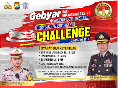 Riding and Driving Skill Challenge, Polres Gresik