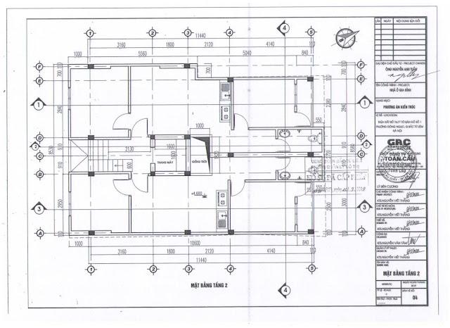 Thiết kế tầng 2 chung cư mini Minh Đại Lộc 2B