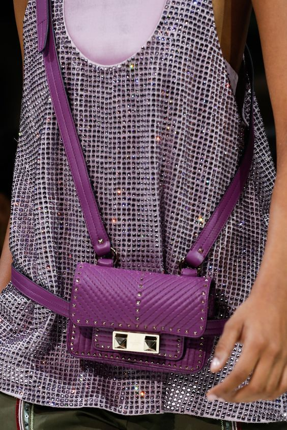 Valentino Purpel Color Pretty BeltBag