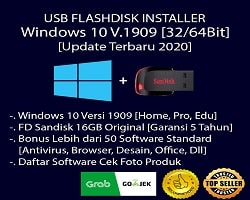 USB Flashdisk Installer Windows 10 + Paket Software