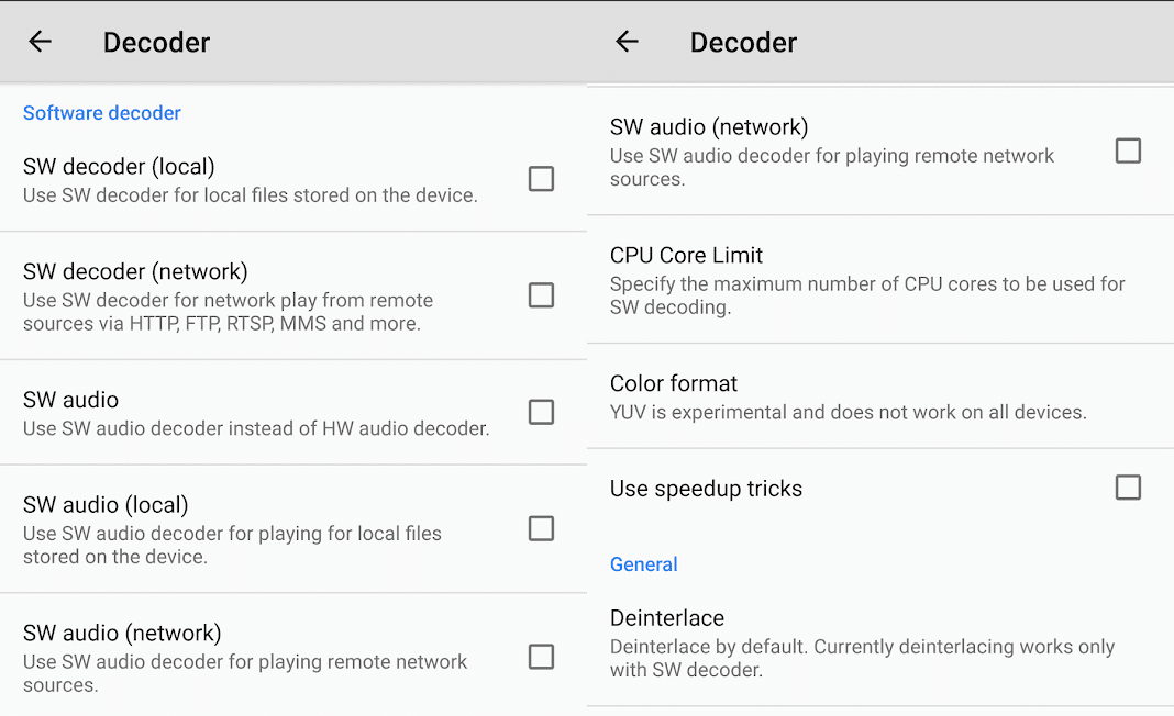 Switch, Enable & Disable Hardware and Software Decoder in MX Player