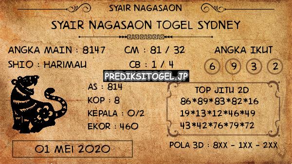 Prediksi Sydney 01 Mei 2020 - Nagasaon Sydney