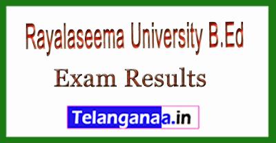 Rayalaseema University (RU) B.Ed Exam Results