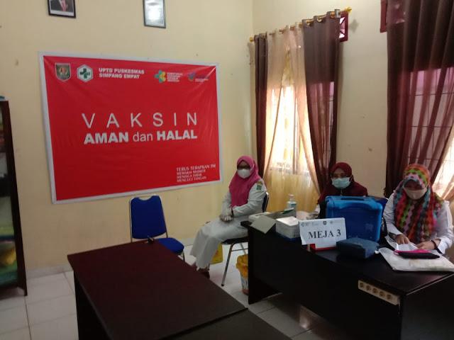 Personel Jajaran Kodim 0208/Asahan Laksanakan Monitoring Vaksin Diwilayah Binaan Kepada Perangkat Desa