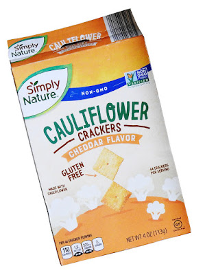 Cheese flavoured cauliflower crackers from Simply Nature.