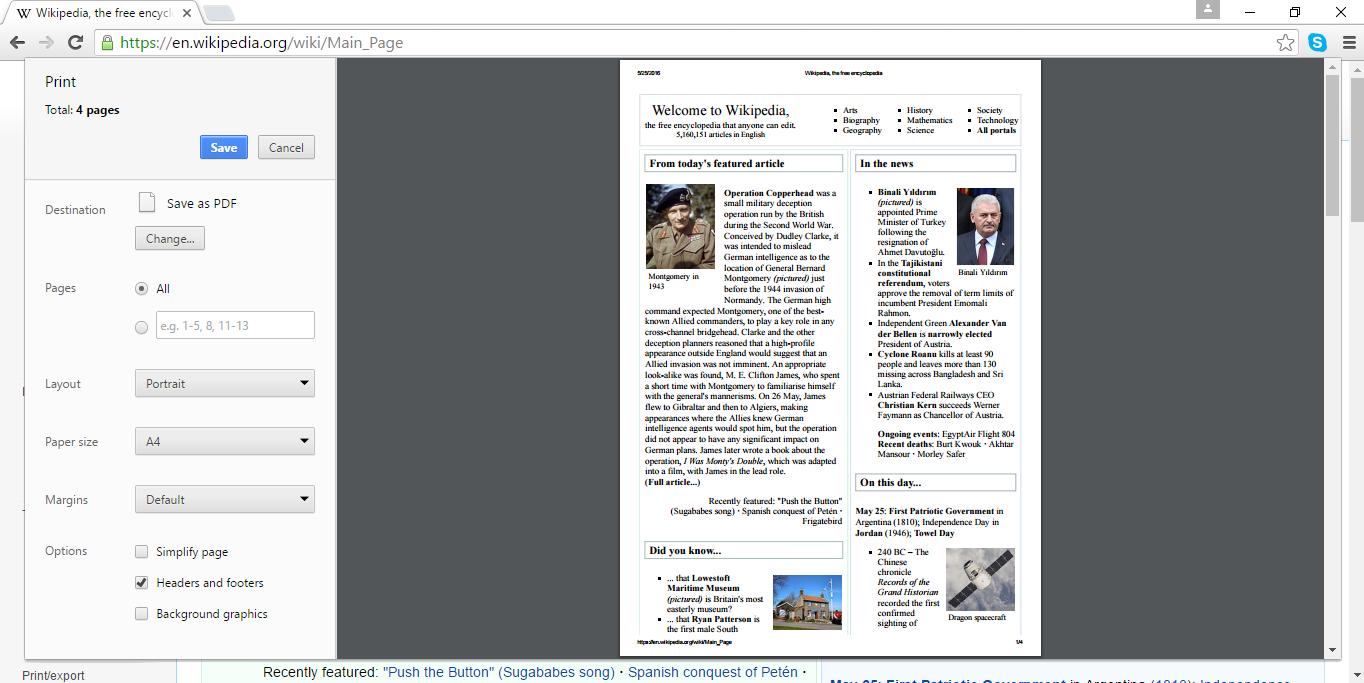 php save webpage as pdf