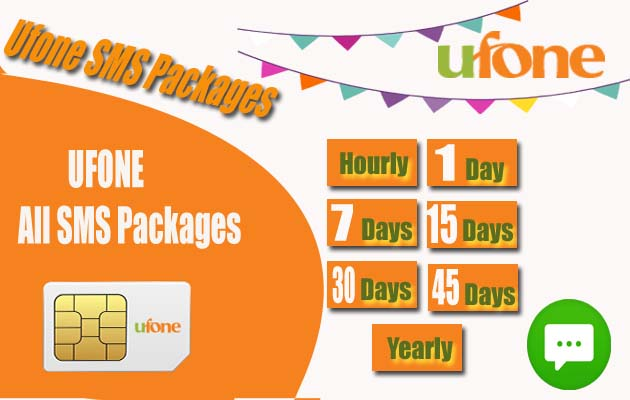 Ufone SMS Packages: Daily, Weekly and Monthly