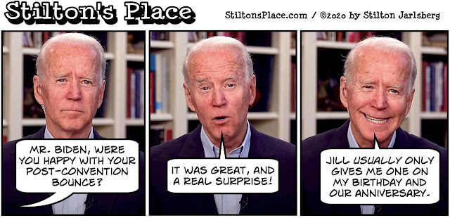 stilton's place, stilton, political, humor, conservative, cartoons, jokes, hope n' change, biden, election, convention, bounce, jill, sex
