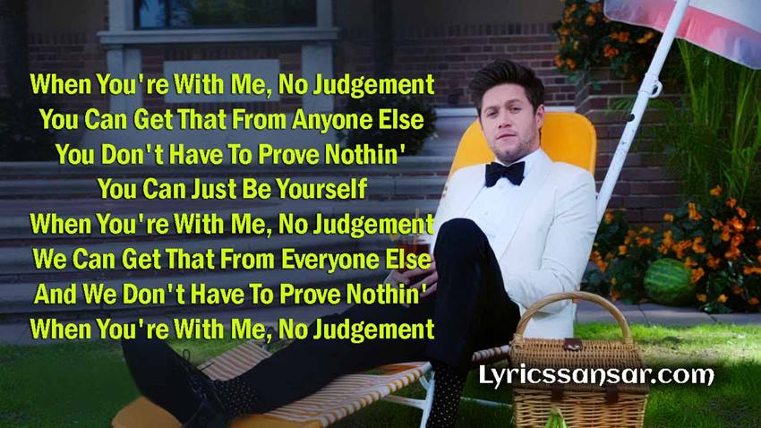 No Judgement Lyrics, No Judgement Song, No Judgement Nail Horan, No Judgement Lyrics Song, Niall Horan, Niall Horan Lyrics of No Judgement