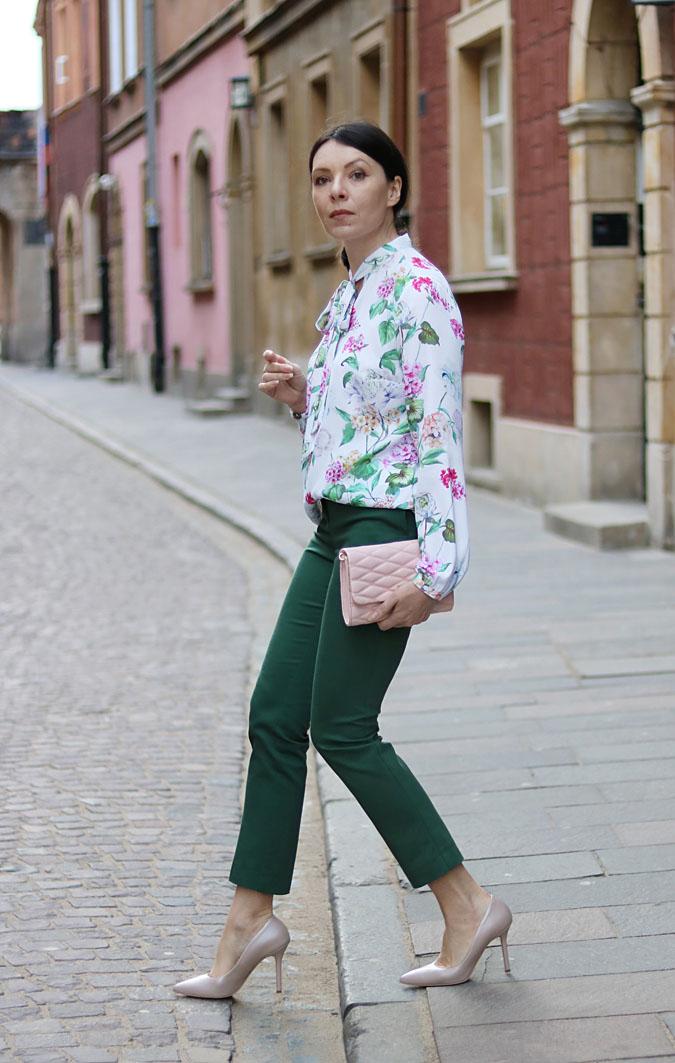 koszula bluzka w kwiaty stylizacje 2018