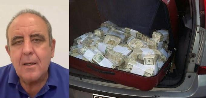 Ignacio Giménez es arrestado mientras intentaba salir de los Estados Unidos con 24 maletas cargadas de dólares.