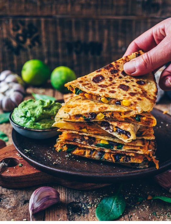 Vegan Sweet Potato Quesadillas (easy recipe)