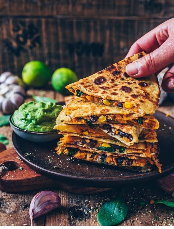 Vegan Sweet Potato Quesadillas (easy recipe)