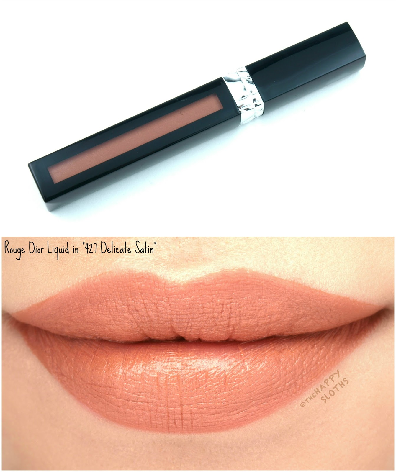 """Dior Rouge Dior Liquid Lip Stain in """"427 Delicate Satin"""": Review and Swatches"""