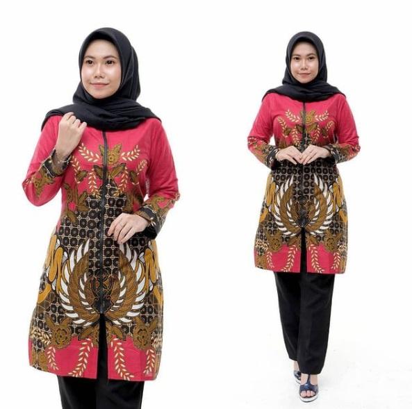 Tunik Batik Warna Merah